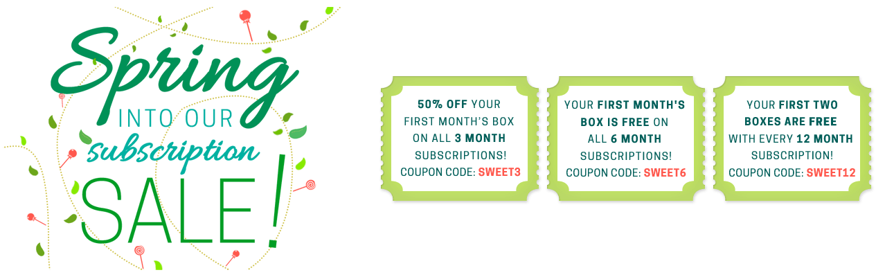 Spring sale candy subscription box